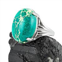 Варисцит зеленый, серебро 925, кольцо, 308КВ