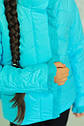 Весенняя  курточка для девочки В комплекте с шапочкой Бирюза, фото 4