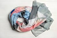 Легкий шарф Джессика из вискозы и хлопка, серый