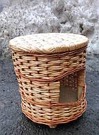 Пуфик плетеный с отверстием