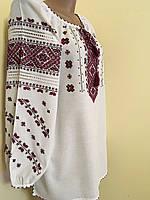 Вишиванка жіноча ручної роботи на домотканному полотні 52-54 розмір, фото 1