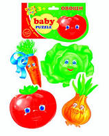 Беби пазлы Овощи (новый штрихкод) VT1106-03