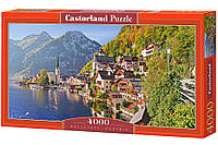 Город на берегу моря (на горном склоне) Hallstatt, Austria арт. 041. 4000 пазлов