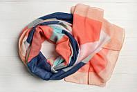 Легкий шарф Джессика из вискозы и хлопка, персик