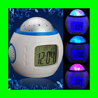 Часы Орбита 1038 настольные (проекция звез.небо, темпер, дата, будильник)