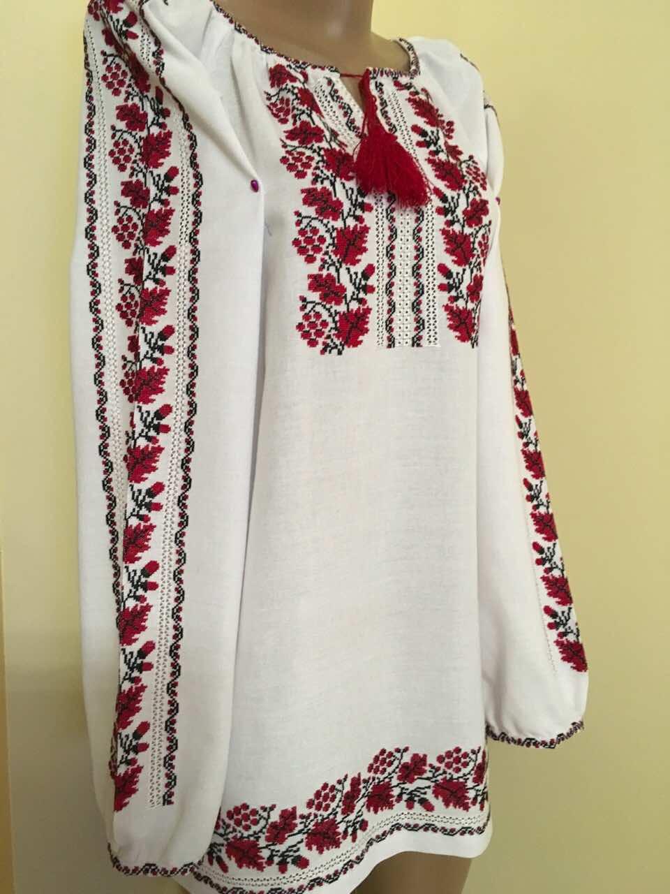 Жіноча вишиванка на довгий рукав ручної роботи 46-48 розмір ... 9ab36ec76fa6e