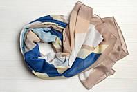 Легкий шарф Джессика из вискозы и хлопка, капучино