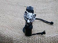 Мужской кожаный браслет ВОЛК на руку, ручная работа
