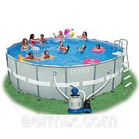 Круглый каркасный бассейн ULTRA FRAME POOL Intex 28332 (54926), бассейн семейный Интекс 549х132см