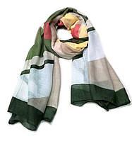 Легкий шарф Джессика из вискозы и хлопка, оливковый