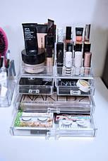 Косметичка Makeup Cosmetics Organizer Drawers Grids Display Storage Clear Acrylic, фото 2