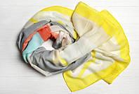 Легкий шарф Джессика из вискозы и хлопка, желтый