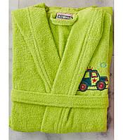 Детский махровый халат  для мальчика 4-6 лет