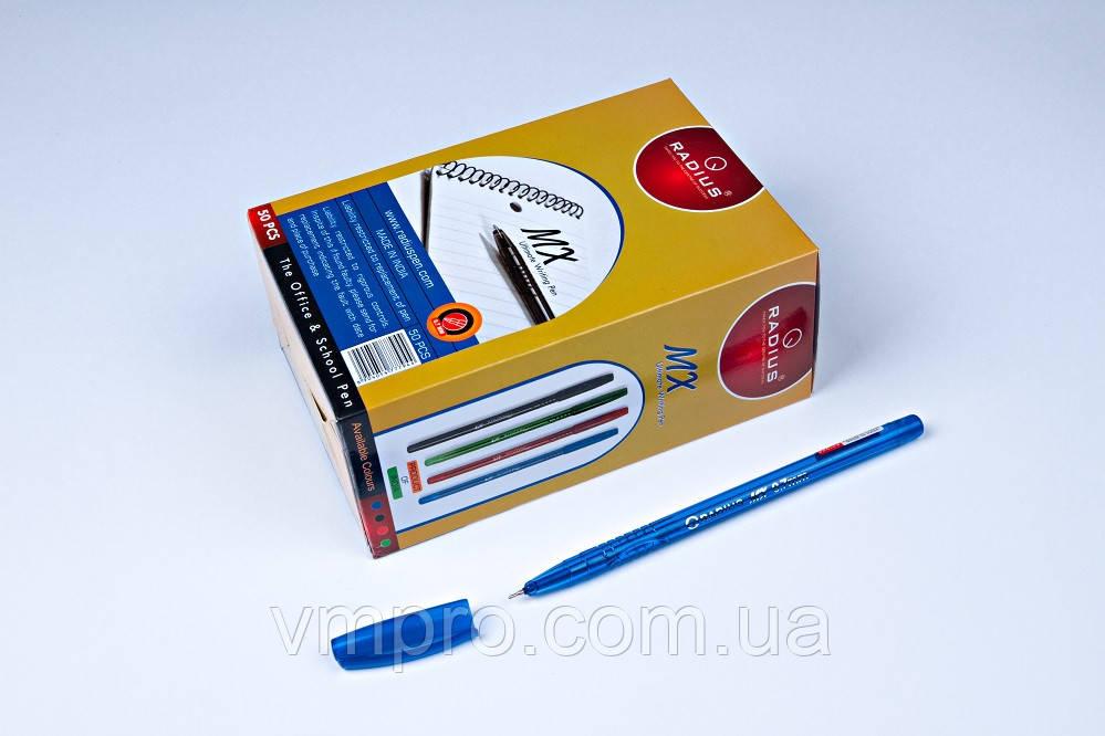"""Ручки кулькові Radius """"MX Pen"""",сині,0.7 mm,50 шт/упаковка"""