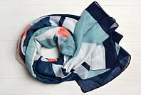 Легкий шарф Джессика из вискозы и хлопка, синий