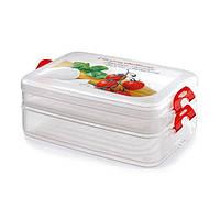 """Пластиковые контейнеры для хранения продуктов """"2 в 1"""" Snips (0.75 л + 1.33 л)"""