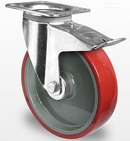 Колесо поворотное с тормозом 160 мм, шариковый подшипник (Германия)