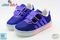 Светящиеся! Детские весенние модные кроссовки бренда JongGolf со светящейся подошвой Размер 29