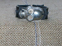 Кожаный браслет ДАРТ ВЕЙДЕР на руку, ручная работа