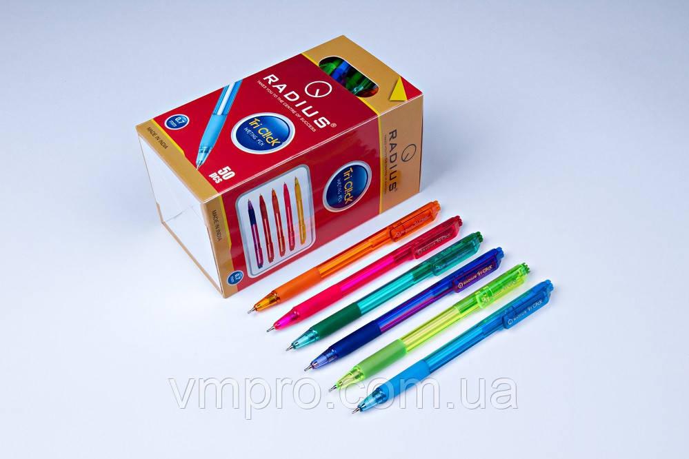 """Ручки шариковые,автомат, Radius """"Tri Click"""",синие,0.7 mm,50 шт/упаковка"""