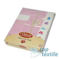 Женский набор для сауны Gursan pink