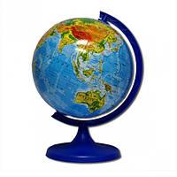 Глобус D160 мм русский, физический (географический)