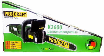 Электропила цепная Procraft K2600, фото 2
