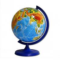 Глобус D220 мм русский, физический (географический)