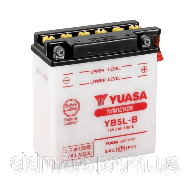 Аккумулятор 12V5a.h Yuasa заливной ( размер JAWA )