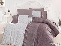 Двуспальный евро комплект постельного белья First Choice Peitra, ранфорс, Турция