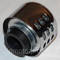 Фильтр нулевого сопротивления d=28mm с хромированным колпачком