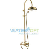 Тропический душ для ванной со смесителем бронза Mixxen MXAL0361BR