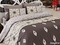 Двуспальный евро комплект постельного белья First Choice Sunglow, ранфорс, Турция