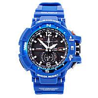 Мужские (женские) спортивные наручные часы Casio G-Shock GW-A1100 синего цвета - AAA копия,полный комплект