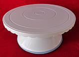 Столик поворотный кондитерский для торта 12 см-28 см пластик, фото 3