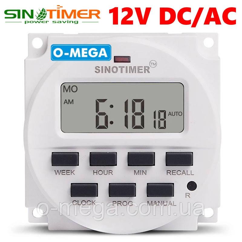 Таймер для инкубатора недельный Sinotimer TM618 программируемый многофункциональный 12V