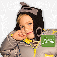 """Комплект флисовый """"Маленький Рыцарь"""" на мальчика (шапка+шарфик) ТМ Хомфорт"""