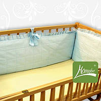 Мягкие бортики в детскую кроватку (защита в кроватку, съемный чехол, высотой 40см) ТМ Хомфорт 4 цвета