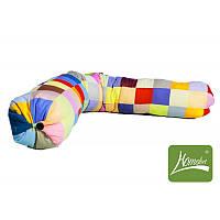 """Подушка - валик """"Лоскуток"""" для беременных и кормления ( 150х20 см, холлофайбер, съемный чехол) ТМ Хомфорт"""