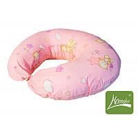 """Подушка - """"бублик""""  для кормления малыша длинна 180 см (+ наволочка, чехол 100% хлопок, холлофайбер) ТМ Хомфорт 4 цвета"""
