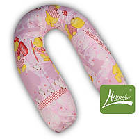 """Подушка - рогалик """"Полумесяц""""  для беременных и кормления + наволочка (хлопок, шарики - холофайбер) ТМ Хомфорт 4 цвета"""