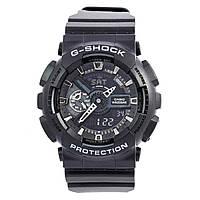 Мужские (женские) спортивные наручные часы Casio G-Shock ga-110 черного цвета - AAA копия, с автоподсветкой, фото 1