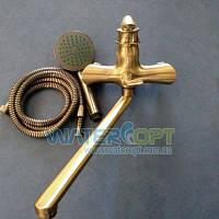 Смеситель для ванны цвет  бронза Zerix Z22219-2
