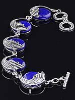 Браслет Лазурит 18 см. украшения из натуральных и искусственных камней № 024304
