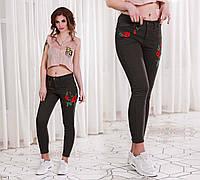 Женские стильные джинсы с вышивкой 4600