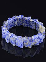 Браслет Лазурит 18 см. украшения из натуральных и искусственных камней № 018337