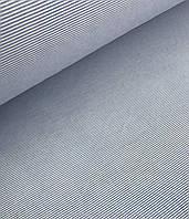 Хлопковая ткань голубая мелкая полоска