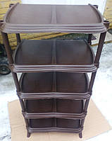 Полка для обуви коричневая на 5 ярусов элиф Турция