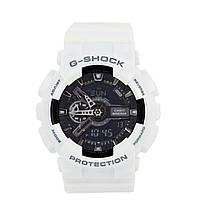 Мужские (женские) спортивные наручные часы Casio G-Shock ga-110 белого цвета - AAA копия, с автоподсветкой