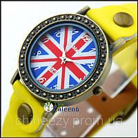 Женские кварцевые часы WoMaGe в винтажном стиле с британским флагом